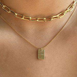 Jewelry - Dainty Love Tag Charm Necklace